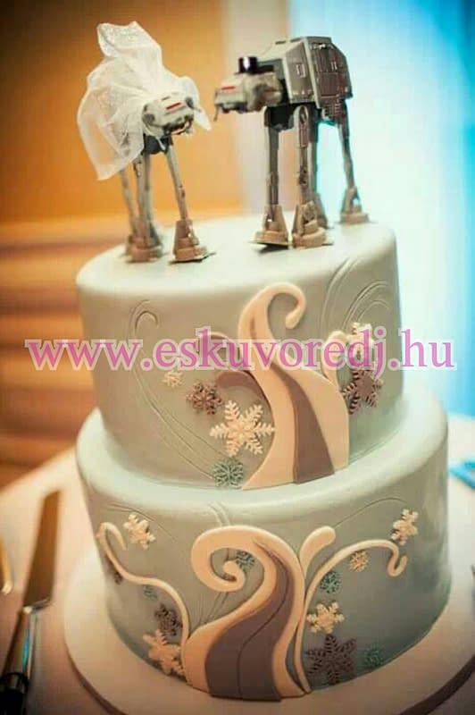 esküvői torta star wars fanatic wedding cake eskuvoredj.hu