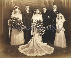 Régi esküvői fénykép